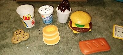 *RARE* MCDONALD'S PLASTIC PLAY FOOD Hamburger - McFlurry - Apple Pie ++ 2001 CDI • 16.99£