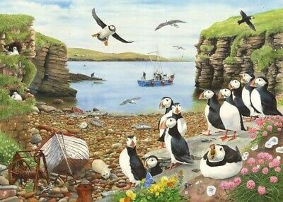 HOP Jigsaw Puzzle Big 500 Piece Puffin Parade NEW Size 68x49 Cm • 14.99£