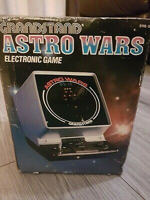 Grandstand Astro Wars Vintage Retro 1981 Electronic Game Console - Boxed 80s Toy • 42£