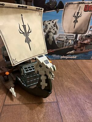 Playmobil Drago's Ship 9244 How To Train Your Dragon Complete Boxed • 50£