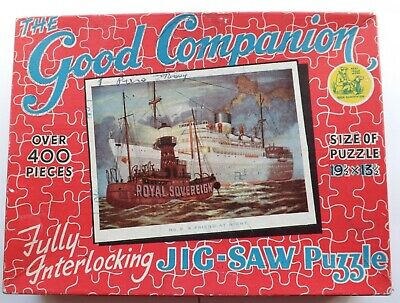Good Companion Jigsaw Puzzle, A Friend At Night, No 9, Vintage, Liner, Lightship • 5.99£