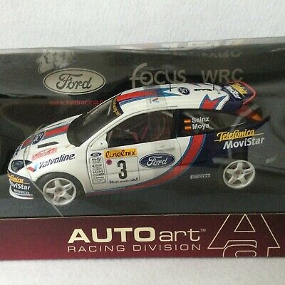 Ford Focus Mk 1 WRC Championship Sainz/Moya 1:18 Scale AutoArt Model • 37.06£