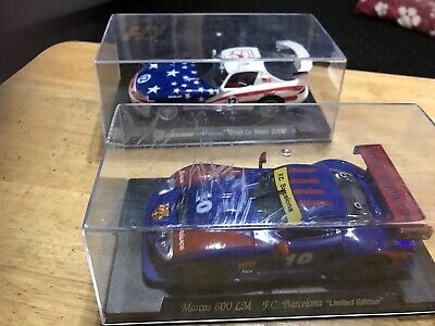 SCALEXTRIC X 2 CARS LM 600 F.C.Barcelona DODGE VIPER GTS PETIT LE MANS FLY VGC • 8.50£