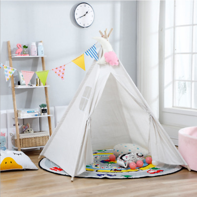 Cotton Canvas Kids Teepee Tent Childrens Wigwam Indoor Outdoor Play House Large • 19.75£
