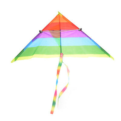 Rainbow Kite Outdoor Baby Toys For Kids Kites Without Control Bar And Line W2 • 2.52£