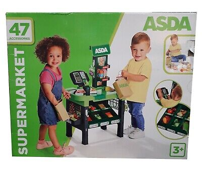 ASDA Toy Checkout Kids Roleplay Cash Register Play Supermarket Fun Gift **NEW** • 29£