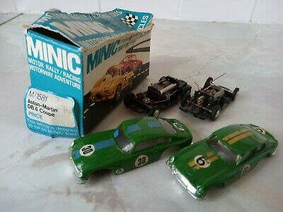 TRI-ANG MINIC MOTORWAYS ~ ASTON MARTIN DB6 COUPE X 2 ~ SPARES / REPAIR With BOX • 11.01£