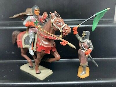 Vintage Starlux Joust Mounted Knight & Joust Marshal • 18£