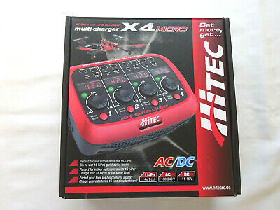Hitec X4 Micro Multi Charger + 4 Rechargable Batteries [unused] • 39.99£
