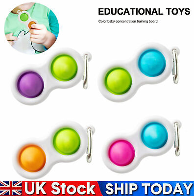 Baby Simple Dimple Sensory Fidget Toy Silicone Flipping Board 3+ Kids Adult Gift • 2.99£