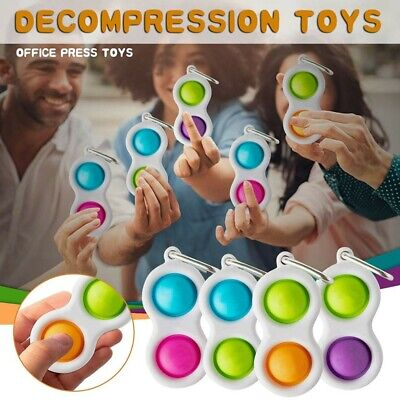 Baby Simple Dimple Sensory Fidget Toy Silicone Flipping Board 3+ Kids Adult Gift • 3.29£