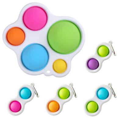 UK Baby Sensory Fidget Toy Simple Dimple Silicone Flipping Board Kids Adult Gift • 3.89£
