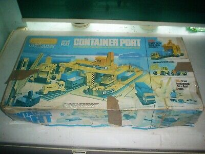 INTAGE MATCHBOX 1970's PS-1 CONTAINER PORT PLAYSET CAR / TRAIN CARGO LOADING • 39.99£