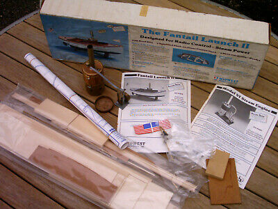 Vintage Midwest Model Steam Boat & Engine / Kit 980 / 958. Old. Faintail Launch. • 92£