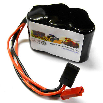 BSP RC Model 6v 1200mah Ni-MH Rechargeable Battery Pack Compatible JST JR Hump • 11.99£