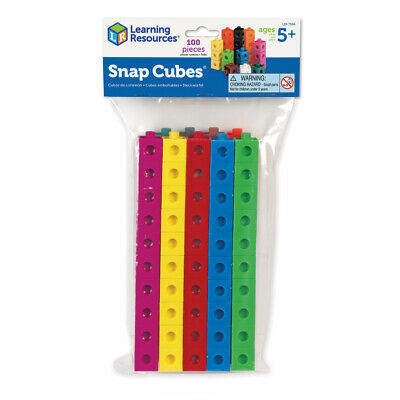 Learning Resources Snap Unifix Cubes- Choice Of Sets (One Supplied) NEW • 11.35£