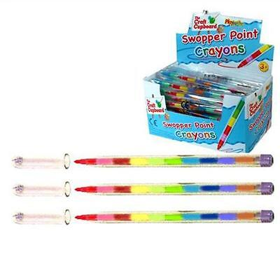 2 Swap Point Crayons Stacker Pencils Party Loot Bag Fillers! • 1.79£