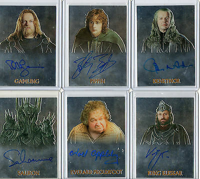 Lord Of The Rings  -  Autograph And Memorabilia Card Selection NM Topps Chrome  • 20£