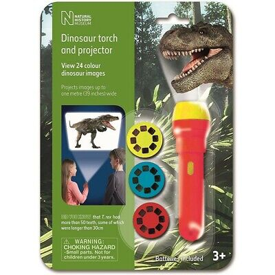 Natural History Museum Dinosaur Torch And Projector 24 Images • 7.99£
