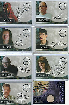 Angel Autograph & Pieceworks Card Selection NM Inkworks 2001-4 • 20£