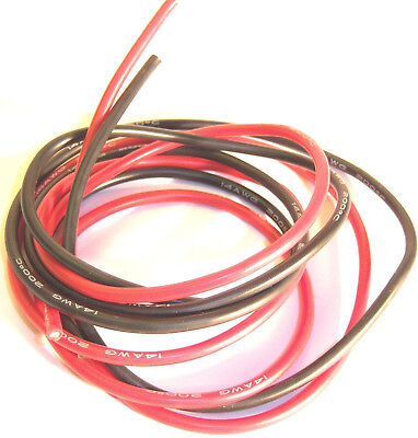10AWG 10 AWG Gauge RC Flexible Insulated Silicone Wire Cable 50cm Black & Red • 3.51£