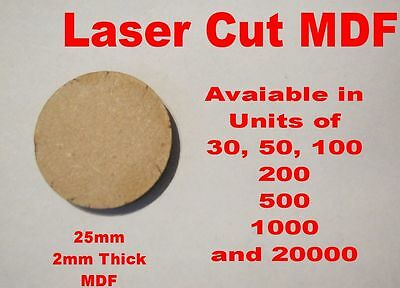 25mm Circle Round Bases In Laser Cut 2mm MDF • 1.99£
