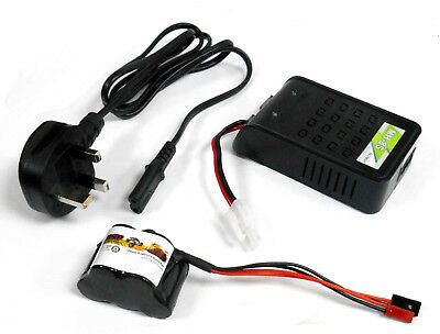 RC Receiver 1200mah 6v Battery Pack Charger Compatible JR JST Hump 5 Cell MH-8S • 20.95£
