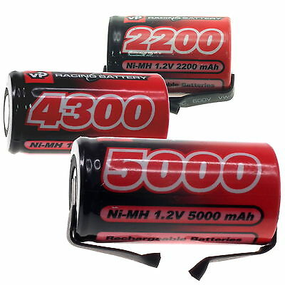 1.2V NiMH SubC (SC) Single Cells 2200-5000mAh For DIY Custom Battery Packs • 9.95£