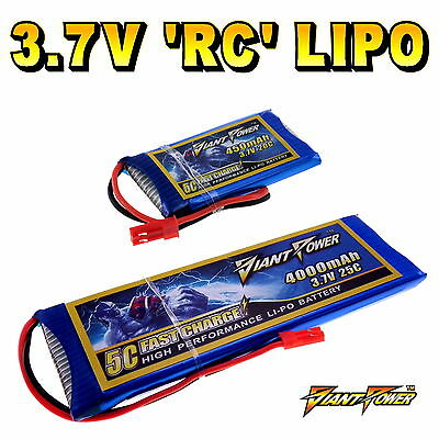 3.7V 50mAh - 2200mAh 1S RC LiPo Battery Up To 50C All Sizes + Custom Connector • 16.50£