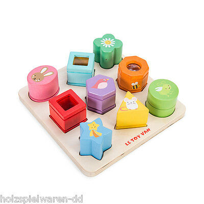 Le Toy Van PL089 Pegging Game   Sensory Shapes   New Wood! # • 37.24£