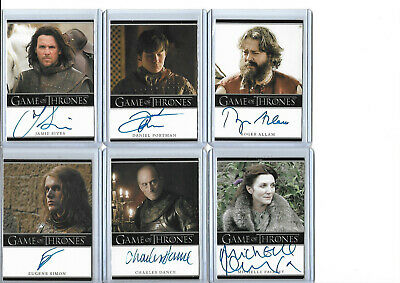Game Of Thrones Autograph And Relic Card Selection NM Rittenhouse  • 22.50£