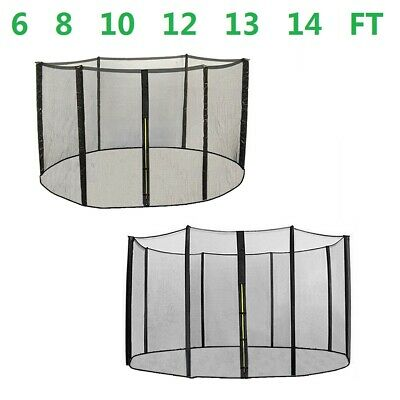 Replacement Trampoline Safety Net Enclosure Surround 6ft 8ft 10ft 12ft 13ft 14ft • 32.99£