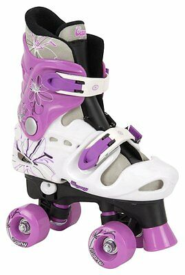 Osprey Girls Quad Skates Black White Purple Size 3-5 For Gift Outdoor Games • 29.95£