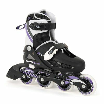 Osprey Adjustable Inline Skates Black Lilac Outdoor Activities Sizes 1 - 4 • 29.95£