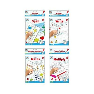 Kids Wipe Clean Educational Fun Learning Books Writing Spelling Maths Numbers • 2.78£