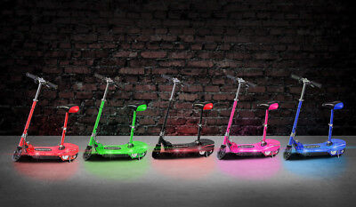 Electric E Scooter Kids Lights Up Glow Strip LED Ride On 120w Rechargeable Seat • 174.99£