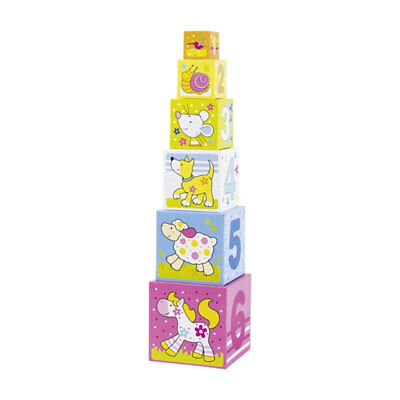 Goki 58508 Susibelle Dice Stack - Cube Tower Stack New! # • 18.62£
