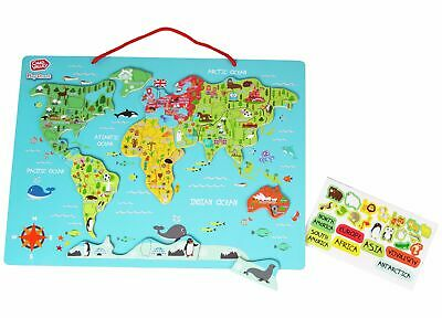 Chad Valley 32 Piece PlaySmart Magnetic World Map 3+ Years • 9£