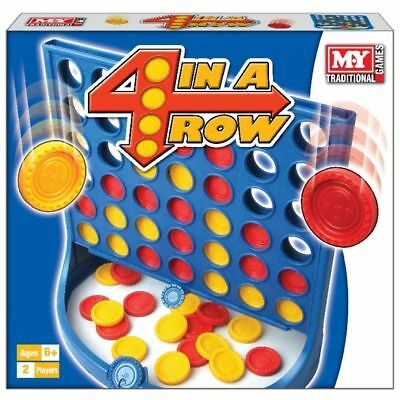 Full Size 4 In A Row Board Game Connect 4 2 PLAYER Traditional Kids Childrens  • 7.89£