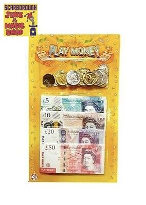 Play Money ~ English £s ~ Joke Novelty Toy Money ~ £££ Notes And Coins • 2.50£
