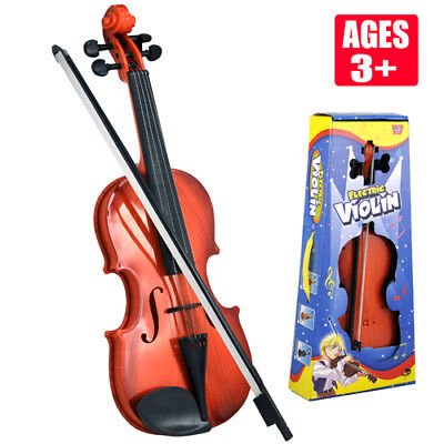 Electric Kids Violin & Bow Childrens Musical String Instrument Toy For Practice • 9.99£