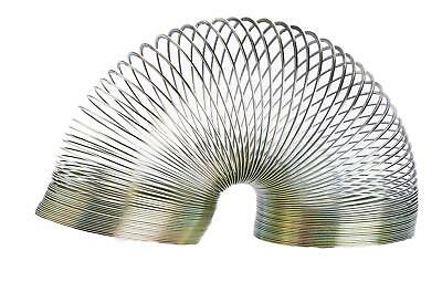 Magic 5cm Springy Metal Slinky Childrens Retro Novelty Game Toy Colours May Vary • 6.99£