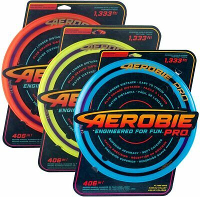 Aerobie 13  Pro Ring Flying Disc Outdoor Frisbee Toy Game Orange/Pink/Yellow • 12.49£