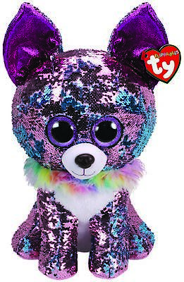 Ty Beanie Buddies Extra Large 16  Flippables Yappy Chihuahua Plush Soft Toy • 39.95£