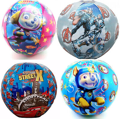 Inflatable Blow Up Kids Beach Ball; Paw Patrol, Avengers & Cars!  • 2.95£