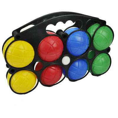 8pc Plastic French Boules Set Petanque Balls Garden Game Free Carry Case NEW Fun • 7.99£