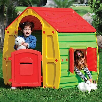Children Play House Kids Playhouse Outdoor Plastic Magical House Garden Toys • 69.99£