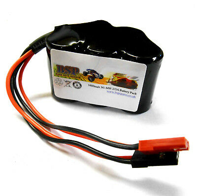 BSP RC Model 6v 1600mah Ni-MH Rechargeable Battery Pack Compatible JST JR Hump 1 • 13.99£