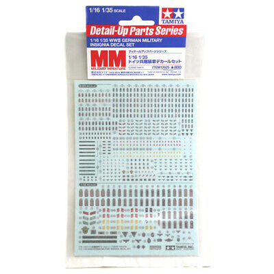 Tamiya 12625 WWII German Military Insignia Decal Set For 1/16 1/35 Figures • 9.20£