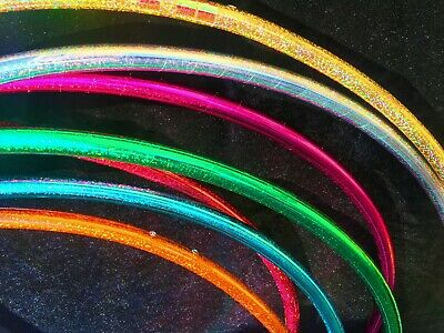 Travel Polypro Hula Hoop With Sparkle Shine Tape - 28 -38  - Rainbow Dragon • 29.95£